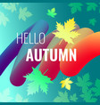discounts autumn bright background vector image vector image