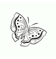 doodle butterfly for coloring book vector image
