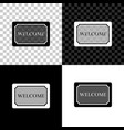 doormat with text welcome icon isolated on vector image vector image