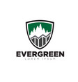 evergreen business grow up logo designs modern vector image vector image