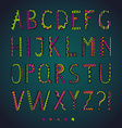Fantasy hand drawn colorful font vector image vector image