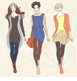 fashion girls top models vector image vector image