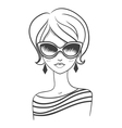 Fashionable girl in sunglasses vector image vector image