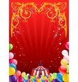 Festive circus background vector image vector image