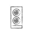 figure speaker electronic equipment to listen to vector image vector image