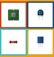 flat icon device set of resistance transducer vector image vector image
