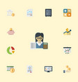 flat icons net income paper deadline and other vector image vector image