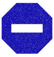 forbidden octagon icon grunge watermark vector image vector image