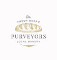 fresh bread purveyors abstract sign symbol or vector image