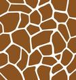 Giraffe Skin Seamless Pattern vector image