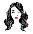 girl hair vector image vector image