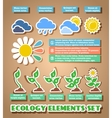 Green eco infographic elements vector image vector image
