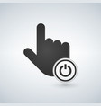 hand mouse cursor pointer with turn off on power vector image vector image