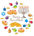 happy haunkkah with different elements for the vector image vector image