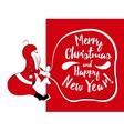 Holiday card with santa vector image