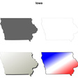 Iowa outline map set vector image vector image