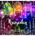 Islamic colorful holiday background vector image vector image