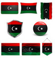 libya august 2011 - new flag after vector image vector image