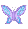 Lovely butterfly icon cartoon style vector image vector image