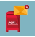 mail messaging related icons vector image vector image