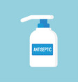 medical disinfection antiseptic in flat style vector image