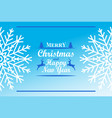 merry christmas happy new year inscription decor vector image