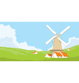 Mill with grass vector image vector image