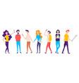millennial generation teenagers vector image vector image