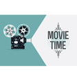 Movie Projector Banner vector image vector image