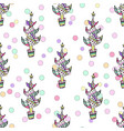 multicolored seamless christmas pattern - varied vector image vector image
