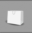 paper bag mock up template vector image vector image