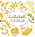 pasta background doodle framing different vector image