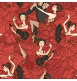 Pattern with tango and flamenco dancers vector image vector image