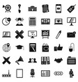 payment icons set simle style vector image vector image