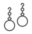 pearls earrings line icon jewelry and accessory vector image