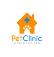 pet clinic hospital logo icon symbols and app vector image
