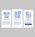 programming onboarding mobile app page screen vector image vector image