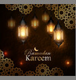 ramadan kareem greeting background eps 10 vector image vector image