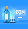 realistic 3d detailed blue gin ad concept card vector image