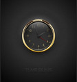realistic deep black round clock cut out on vector image vector image