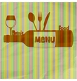 restaurant menu food and drink vector image vector image
