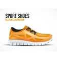 Running orange shoes Bright Sport sneakers symbol vector image vector image
