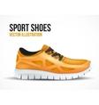 Running orange shoes Bright Sport sneakers symbol vector image