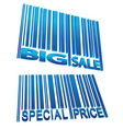 sale price barcode set vector image vector image