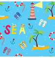 Sea funny seamless pattern vector image vector image