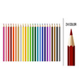 set different colored pencils isolated on white vector image vector image