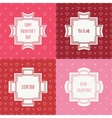 Set of red pink romantic seamless pattern with vector image vector image