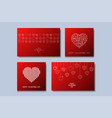 set of stylish greeting cardspostersbrochures vector image vector image