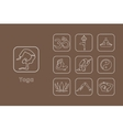 Set of yoga simple icons vector image vector image