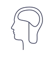 silhouette side head with brain vector image vector image